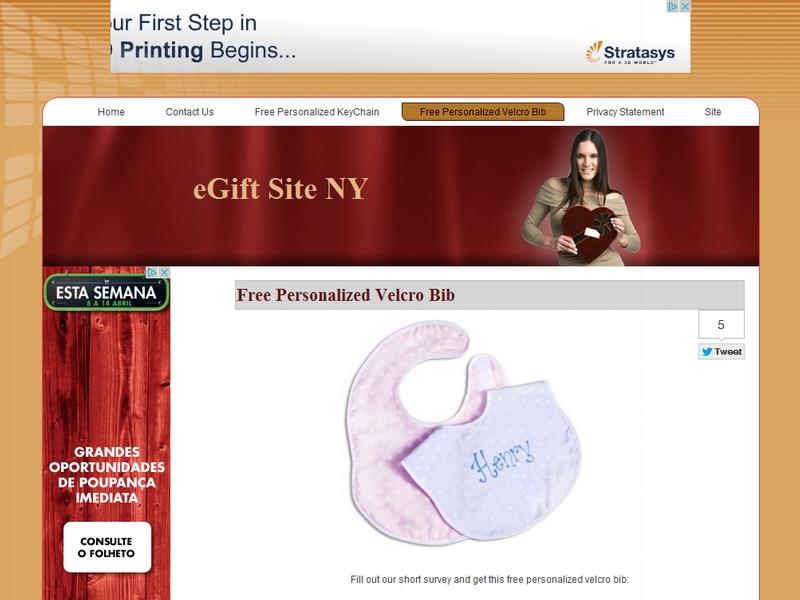 Babete personalizado para recém-nascidos gratuito